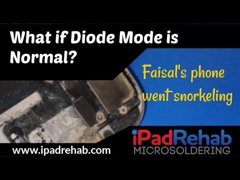 What to do when diode mode is normal---the case of Faisal's phone went snorkeling