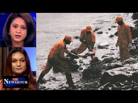 Chennai Oil Spill - Common Man's Health Worth Nothing For Netas?: The Newshour Debate (3rd Feb)