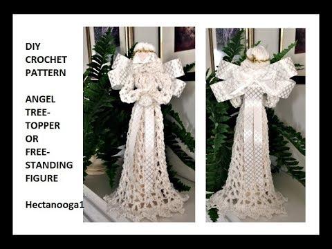 Crochet Angel Christmas Tree Topper Or Free Standing Figure2328