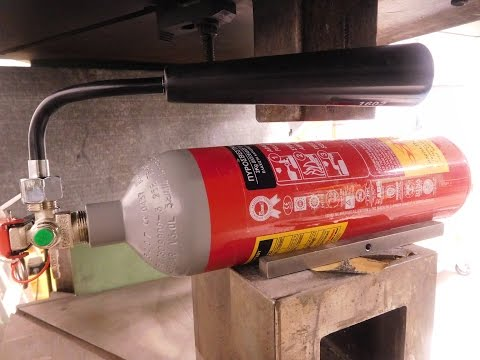 Experiment co2 Fire Extinguisher Vs 200 ton Hydraulic Press The Crusher