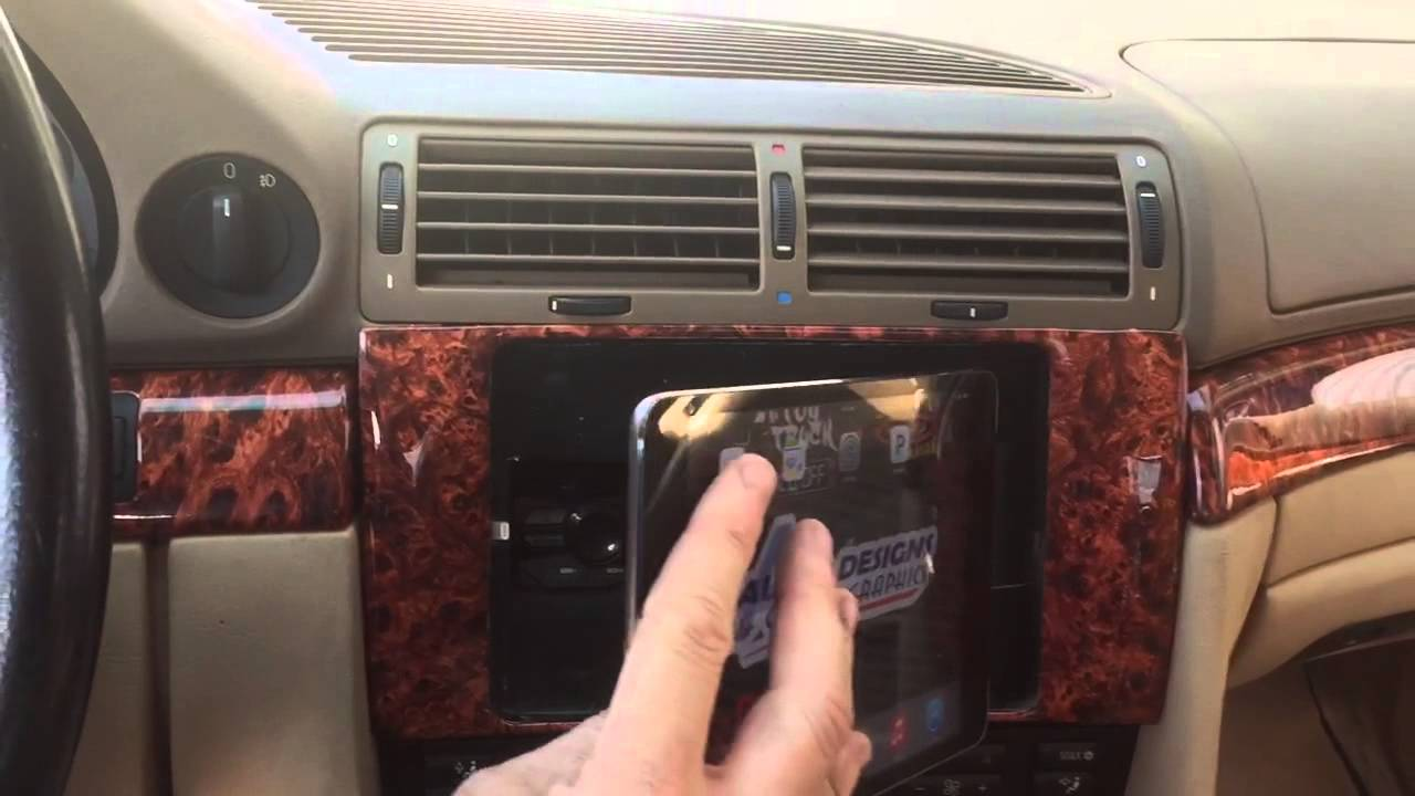 BMW 740 Custom Ipad Mount Double Din Radio Kit