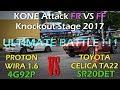 GYMKHANA/KONE Attack FF VS FR Knockout Stage 2017 Final?Proton Wira 1.6 VS Toyota Celica TA22