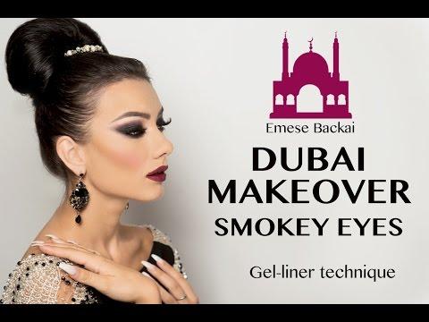 No.1 DUBAI MAKEOVER   1001 NIGHT MAKEUP COLLECTION   ARABIC SMOKEY EYES by Emese Backai