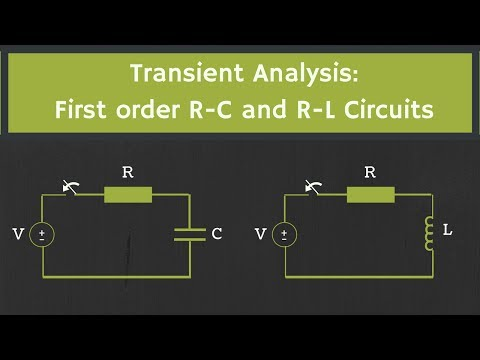 Transient Analysis: First order R C and R L Circuits