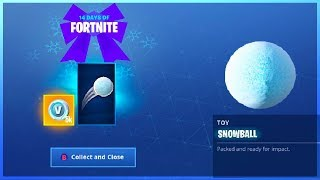 How To Get SNOWBALL TOY in Fortnite Battle Royale! (14 Days Of Fortnite Challenges)