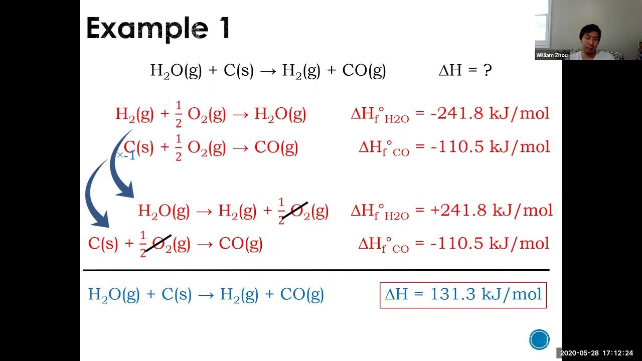 Chemistry 12 SCH4U Standard Enthalpy of Formation - YouTube
