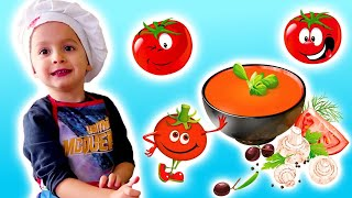 Рецепт для детей: Бельгийский томатный суп c KuSaNiKi