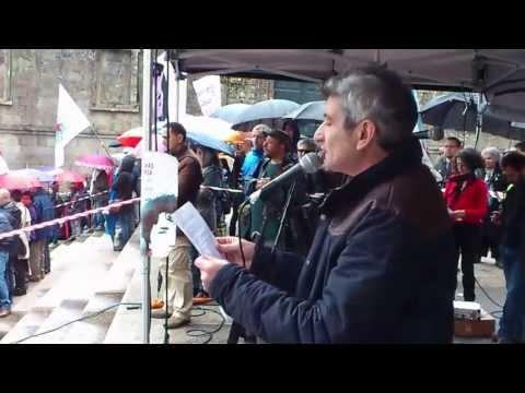 César Cambeiro na manifestación de Queremos Galego