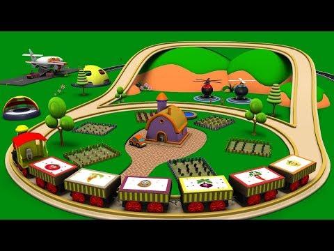 Old MacDonald had a farm - Train Cartoon - Police Cartoon - Car Cartoon For Children - Toy Factory