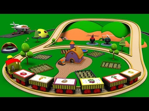Thumbnail: Old MacDonald had a farm - Train Cartoon - Police Cartoon - Car Cartoon For Children - Toy Factory