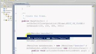 Java Eclipse Gui Windowbuilder Menü Swing