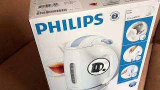 Philips HD4646 - kettle - Black unboxing and instructions