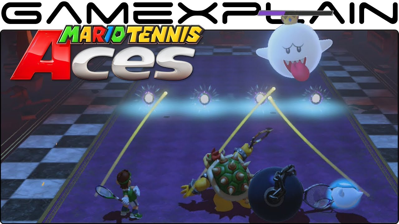Mario Tennis Aces - Online Co-Op Challenge Gameplay (Unlock Costumes for Boo)