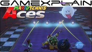 Mario Tennis Aces - Online Co-Op Challenge Gameplay (Unlock Costumes for Boo)