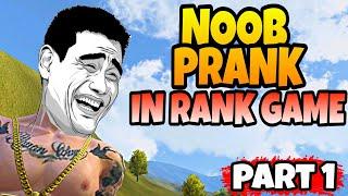NOOB PRANK IN RANK GAME - #part1 - Garena Free Fire