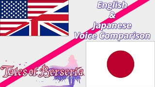 Tales of Berseria - Main cast English/Japanese voices comparison