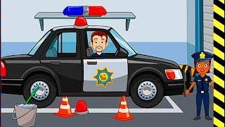 Мультик игра про машинки - полицейские машины и их...