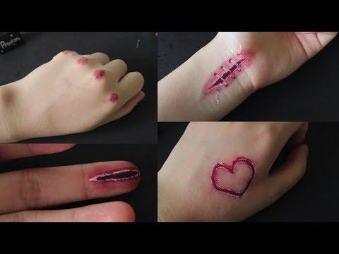 Cách vẽ vết thương giả đơn giản với bút bi- How to draw fake cuts by only using pen | Bao quát những nội dung về hinh ve bang but chi đầy đủ nhất