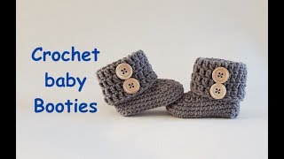 Crochet baby booties 4-8 month