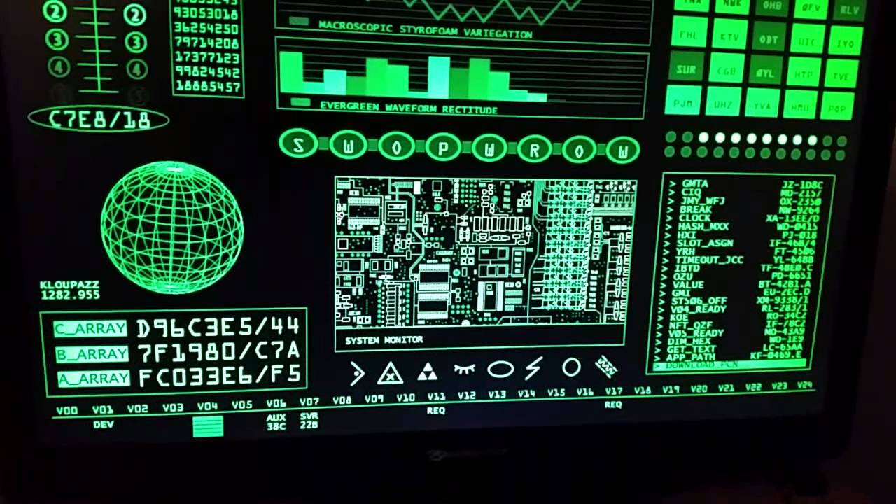 Retro Sci fi screen saver on Windows 10