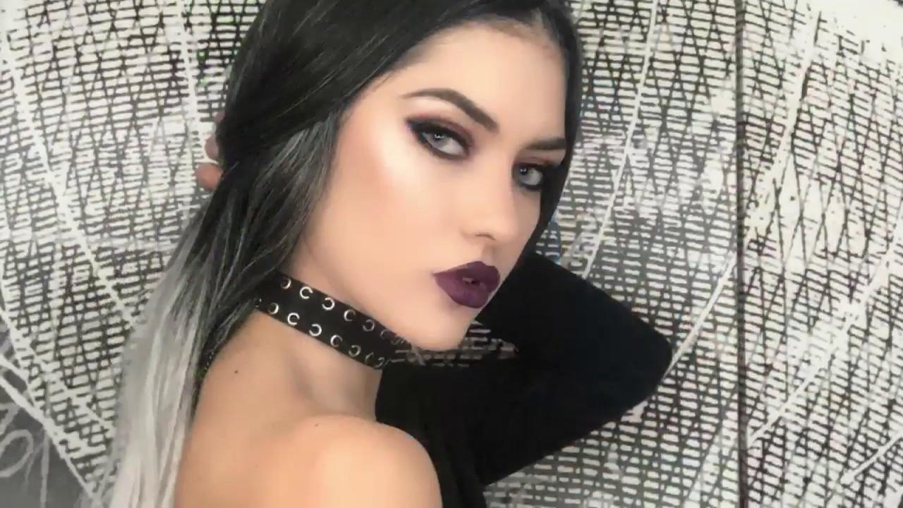 Edgy makeup tutorial / Naked Heat palette / Vampy Look by Katerina Dimitriou