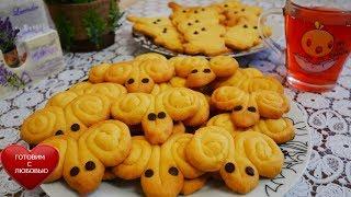 Детское песочное печенье БАРАШКИ на смальце |Красивое праздничное печенье|Выпечка рецепты