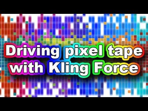 KlingNet - Wiring Pixel tape to Arkaos Kling Force LED