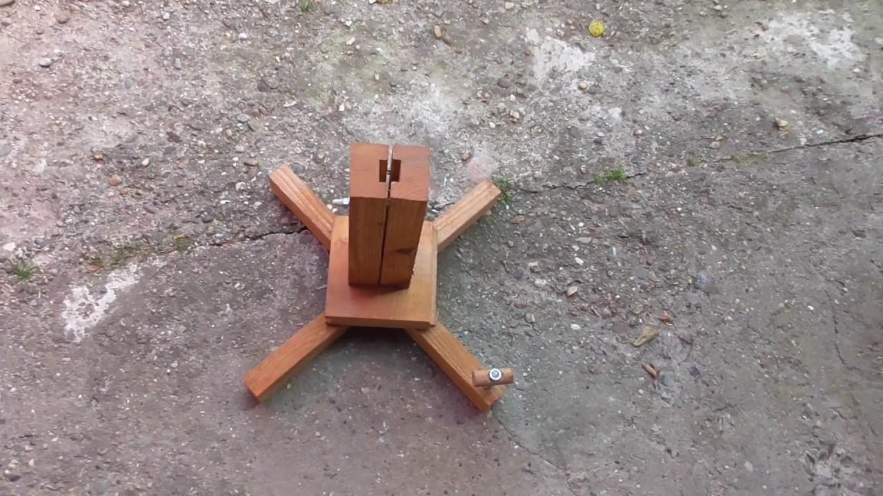 Sonnenschirmstander Aus Holzresten Selbst Gebaut Youtube