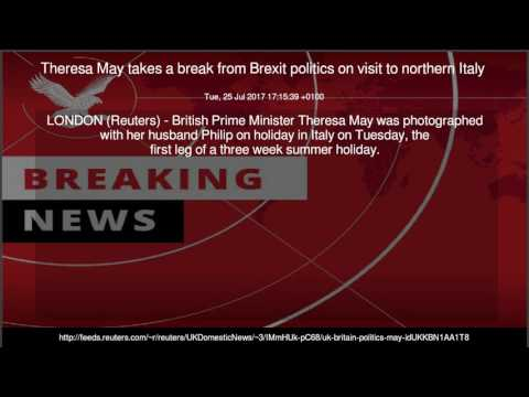 Theresa May takes a break from Brexit politics on visit to northern Italy