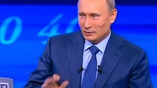 Лучшие приколы Путина в прямом эфире