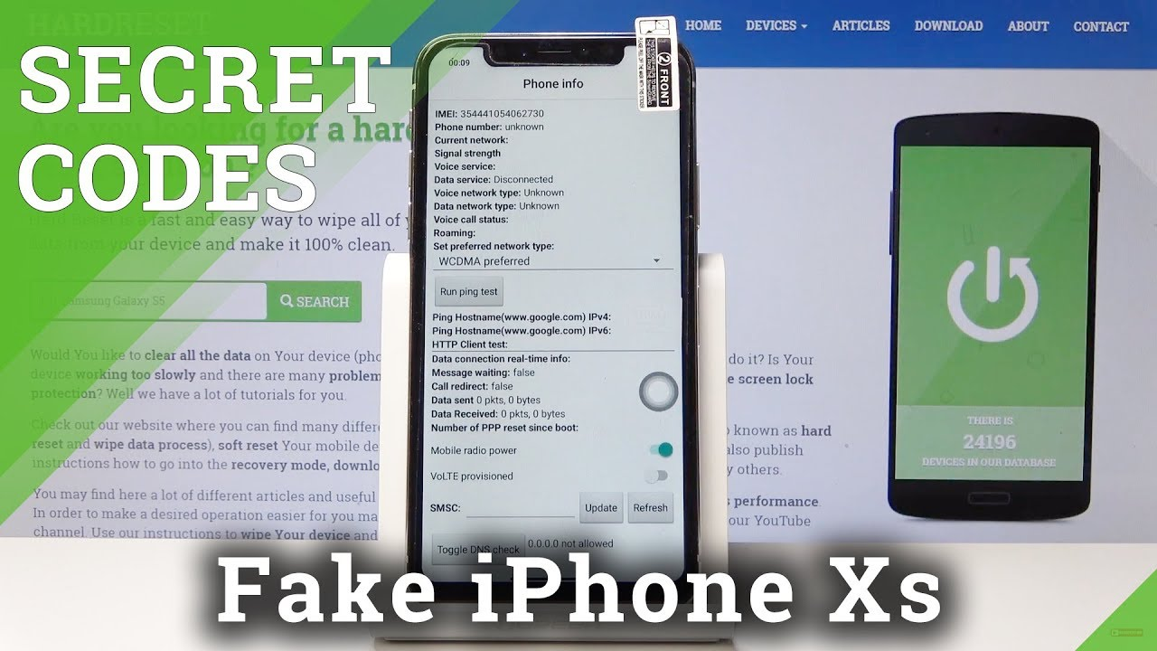 Secret Codes for Clone of iPhone Xs - Testing Menu / Calendar Info