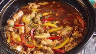 SUPER EASY RECIPE: Claypot Black Pepper Chicken 砂锅黑胡椒鸡