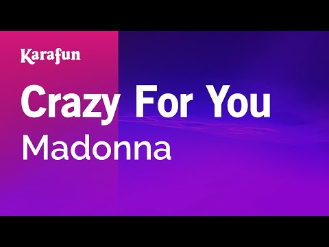 Karaoke Crazy For You - Madonna *
