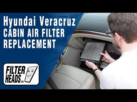 How to Replace Cabin Air Filter Hyundai Veracruz