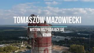 Tomaszów Mazowiecki . Wistom rozpadający się komin 2.