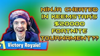 DID NINJA CHEAT IN KEEMSTAR'S $20000 FORTNITE TOURNAMENT??? | WITH BOTH PLAYERS POV