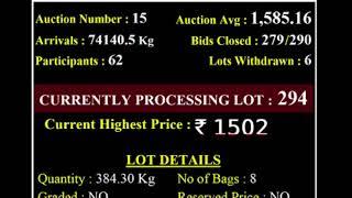 Spices Board India Bodinayakanur - E Auction Live SMTC-02/12/2020