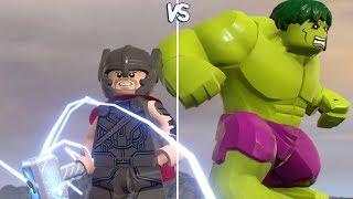 LEGO Marvel Super Heroes 2 - Thor vs Hulk - CoOp Fight (Free Roam Gameplay HD)