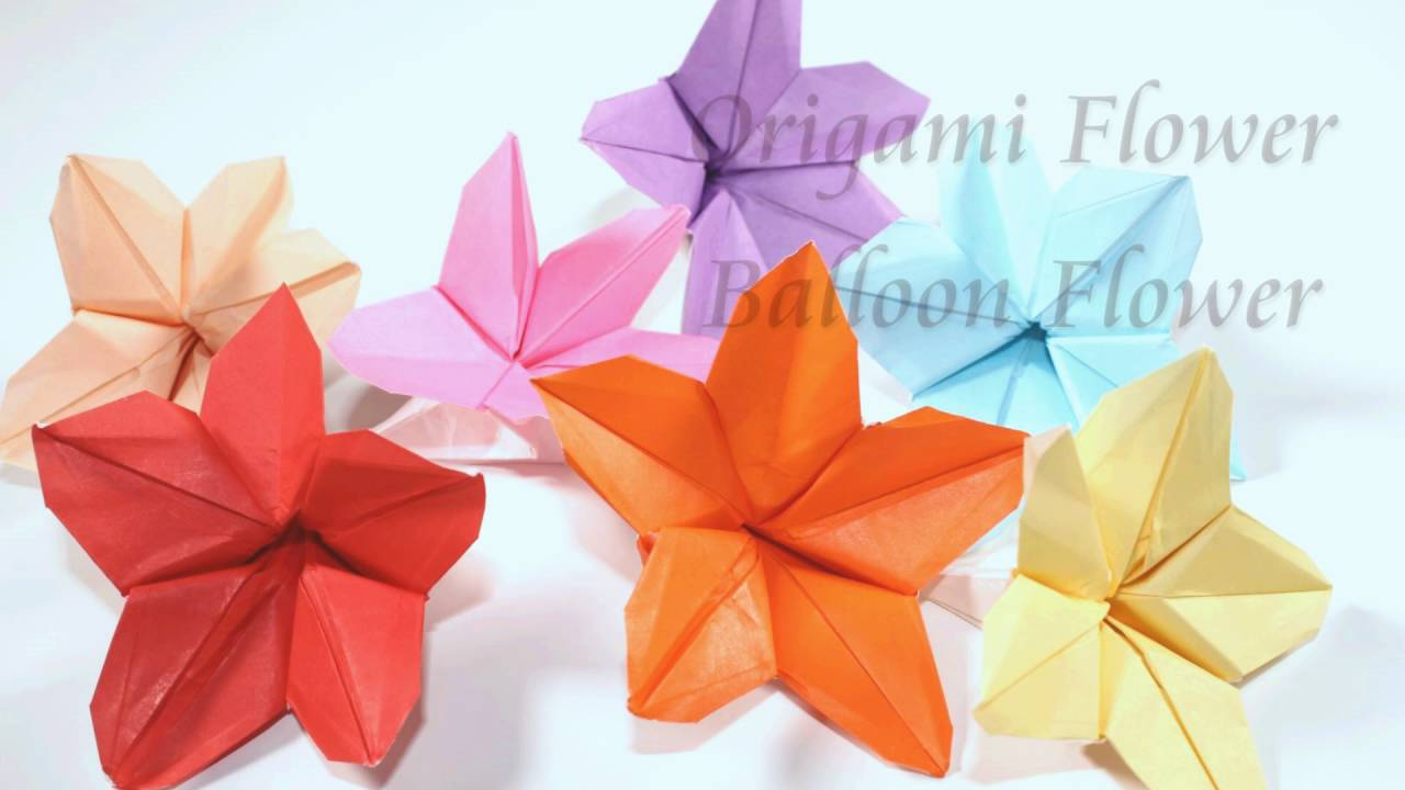 How To Make An Origami Balloon Flower Youtube
