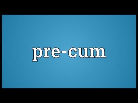 Pre-cum Meaning