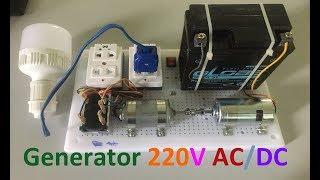 How to Make 220V DC AC Generator with 775 Motor DC 12V
