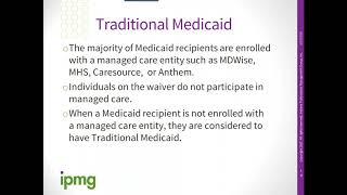 IPMG 2020 Informational Webİnar Series: Medicaid Eligibility - Understanding the Essential Concepts