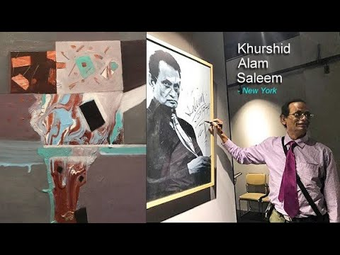 Khurshid Alam Saleem / New York Based International Acclaimed Olympian Abstract Painter