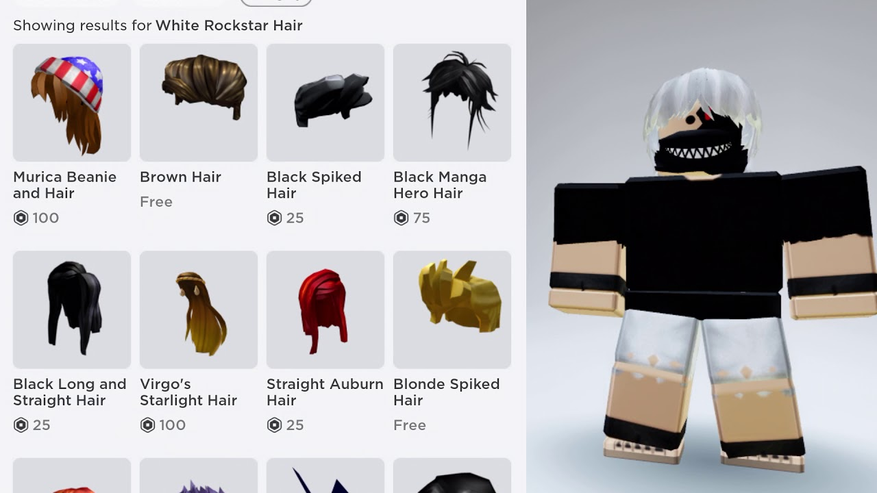 Roblox How to make Kaneki Ken from Tokyo Ghoul in Roblox YouTube