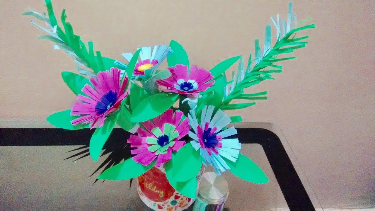 How to make a paper flower bouquet for home decor tabletop how to make a paper flower bouquet for home decor tabletop guldasta quelling flower basket izmirmasajfo Gallery
