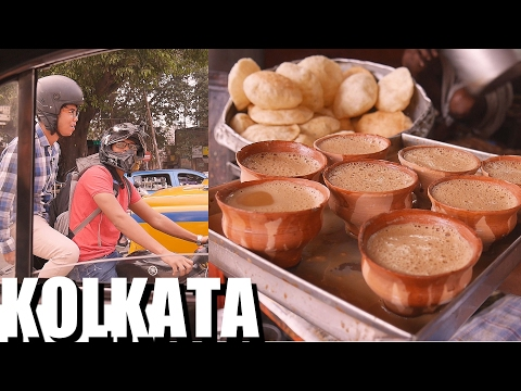 INDIAN FOOD: KOLKATA first impressions: Teas & Veggie Curry Lunch: Epi 1