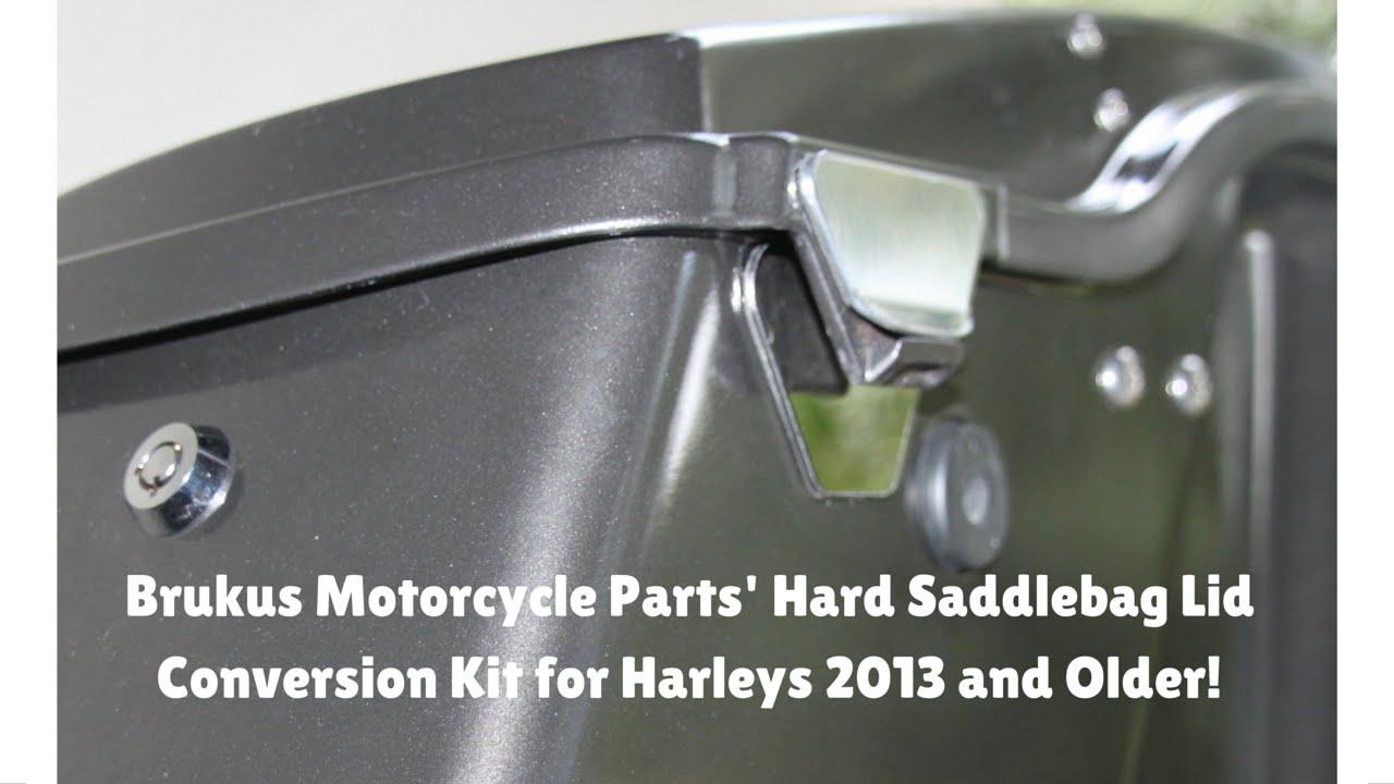 Brukus Hardbag Lid Latch Conversion Kit For Harley Hard