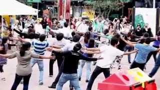 shirley setia dance at Auckland flash mob