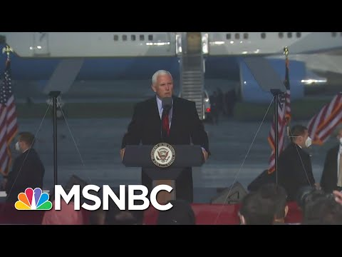 Pence On Campaign Trail Despite COVID Positive Staff As Cases Surge Across Country | Andrea Mitchell