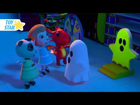New 3D Cartoon For Kids ¦ Dolly And Friends ¦ Night In The Supermarket With Police And Kids Toy #138